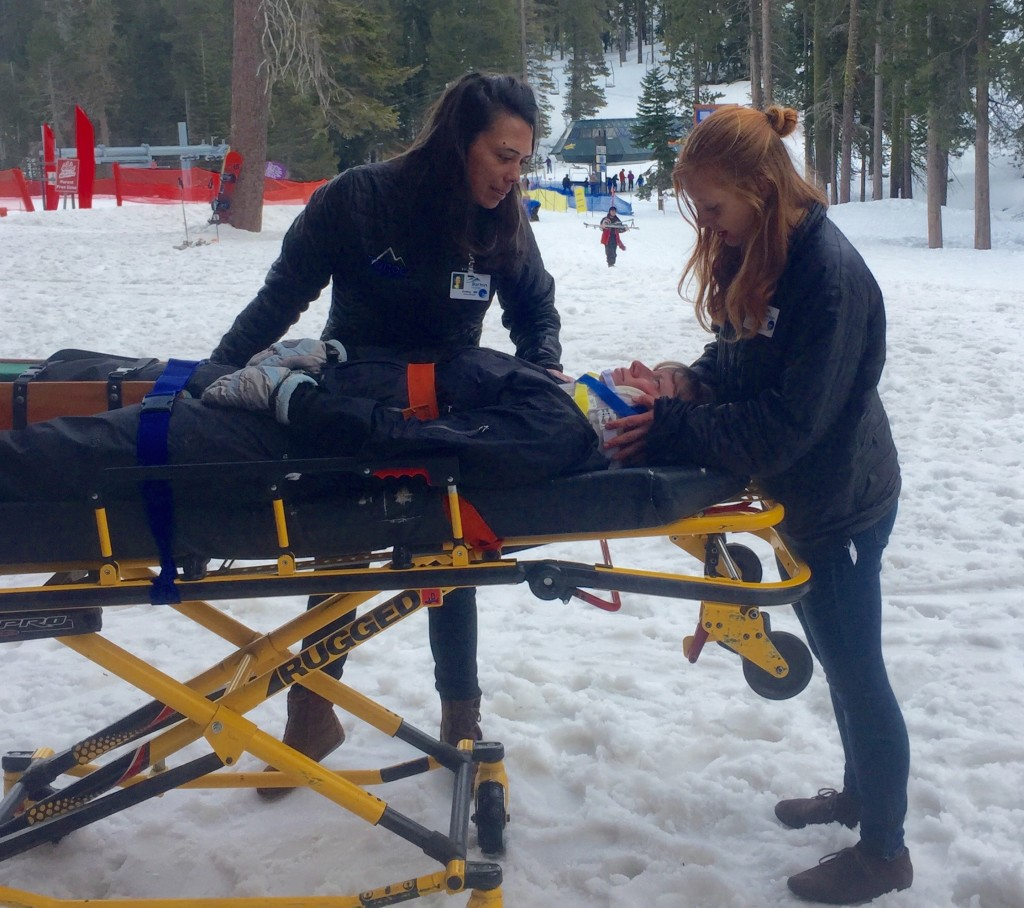 Sierra Clinic staff bringing patient into clinic